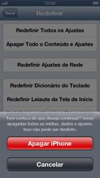 Apple iPhone iOS 6 - Funções básicas - Como restaurar as configurações originais do seu aparelho - Etapa 9
