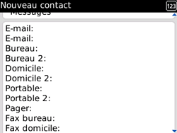 BlackBerry 8520 - Contact, Appels, SMS/MMS - Ajouter un contact - Étape 7