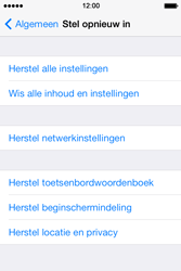 Apple iPhone 4 S - iOS 7 - toestel resetten - fabrieksinstellingen terugzetten - stap 5