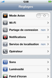 Apple iPhone 4 - Wifi - configuration manuelle - Étape 2
