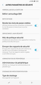 Samsung Galaxy S8+ - Sécuriser votre mobile - Personnaliser le code PIN de votre carte SIM - Étape 6