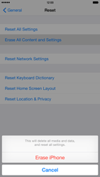 Apple iPhone 6 Plus iOS 8 - Device - Factory reset - Step 8