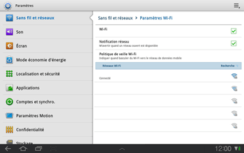 Samsung P7500 Galaxy Tab 10-1 - Wifi - configuration manuelle - Étape 7