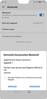 Huawei P20 Android Pie - Bluetooth - Jumeler avec un appareil - Étape 7