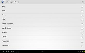 Samsung N8000 Galaxy Note 10-1 - MMS - Configuration manuelle - Étape 8