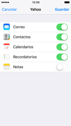 Apple iPhone 5s iOS 10 - E-mail - Configurar Yahoo! - Paso 8