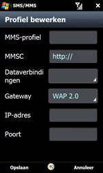 Samsung I8000 Omnia II - MMS - handmatig instellen - Stap 18