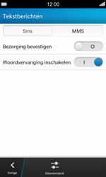 BlackBerry Z10 - SMS - SMS-centrale instellen - Stap 6