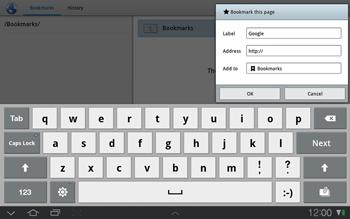 Samsung P7500 Galaxy Tab 10-1 - Internet - Internet browsing - Step 6