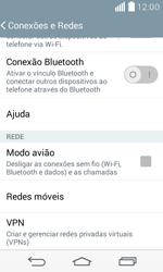 LG D390n F60 - Rede móvel - Como ativar e desativar uma rede de dados - Etapa 5
