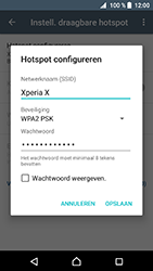 Sony xperia-x-f5121-android-nougat - WiFi - Mobiele hotspot instellen - Stap 9