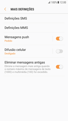 Samsung Galaxy S7 - Android Nougat - SMS - Como configurar o centro de mensagens -  7