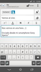 Sony Xperia E4g - E-mail - Escribir y enviar un correo electrónico - Paso 10