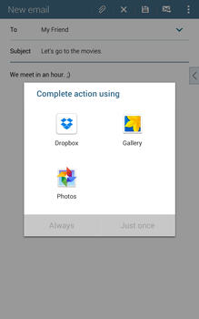 Samsung T335 Galaxy Tab 4 8-0 - E-mail - Sending emails - Step 12