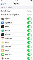Apple iPhone 8 - iOS 13 - Rede móvel - Como definir um aviso e limite de uso de dados - Etapa 4