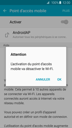 Samsung Galaxy S6 Edge - Internet et connexion - Partager votre connexion en Wi-Fi - Étape 11