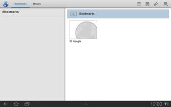 Samsung P7500 Galaxy Tab 10-1 - Internet - Internet browsing - Step 7