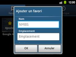 Samsung B5510 Galaxy TXT - Internet - navigation sur Internet - Étape 9