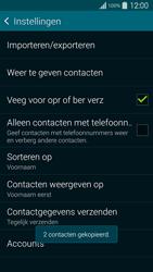 Samsung G900F Galaxy S5 - Contacten en data - Contacten kopiëren van SIM naar toestel - Stap 12