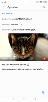 Huawei P20 Dual-SIM (Model EML-L29) - E-mail - Bericht met attachment versturen - Stap 15