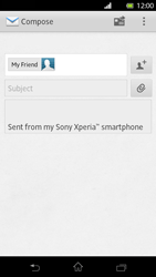 Sony LT30p Xperia T - E-mail - Sending emails - Step 8