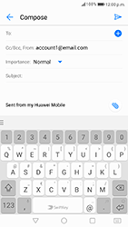 Huawei P8 Lite 2017 - Email - Sending an email message - Step 4