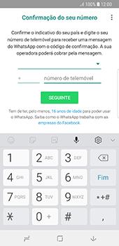 Samsung Galaxy S8 - Android Oreo - Aplicações - Como configurar o WhatsApp -  9