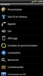 HTC X515m EVO 3D - Wifi - configuration manuelle - Étape 3