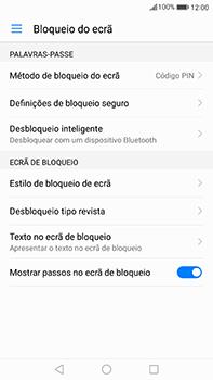Huawei Mate 9 - Segurança - Como ativar o código de bloqueio do ecrã -  11