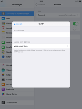 Apple iPad 9.7 - iOS 11 - E-mail - Account instellen (IMAP met SMTP-verificatie) - Stap 22