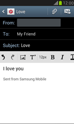Samsung I8190 Galaxy S III Mini - E-mail - Sending emails - Step 9