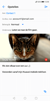 Huawei Mate 10 Lite - E-mail - Bericht met attachment versturen - Stap 15