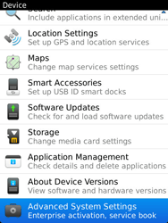 BlackBerry 9810 Torch - Settings - Configuration message received - Step 5