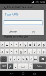 Sony Xperia E1 - Internet no telemóvel - Como configurar ligação à internet -  13
