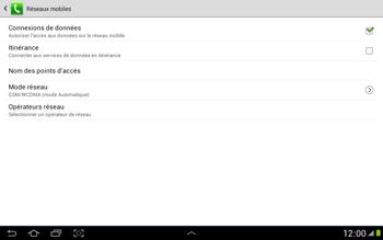 Samsung N8000 Galaxy Note 10-1 - Réseau - Utilisation à l