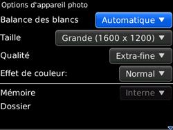 BlackBerry 8520 - Photos, vidéos, musique - Prendre une photo - Étape 7