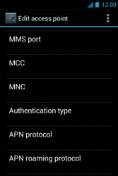 Acer Liquid Z3 - Mms - Manual configuration - Step 14