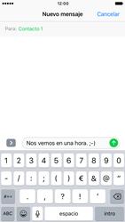 Apple iPhone 6s iOS 10 - Mensajería - Escribir y enviar un mensaje multimedia - Paso 8