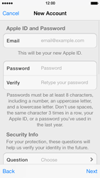 Apple iPhone 5s - Applications - Create an account - Step 12