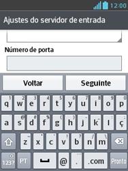 LG E430 Optimus L3 II - Email - Como configurar seu celular para receber e enviar e-mails - Etapa 12