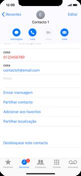 Apple iPhone X - Chamadas - Como bloquear chamadas de um número -  7