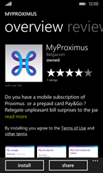 Nokia Lumia 530 - Applications - MyProximus - Step 8