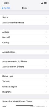 Apple iPhone XR - Funções básicas - Como atualizar o software do seu aparelho - Etapa 4