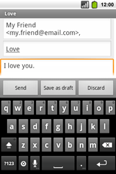 Alcatel OT-991 Smart - Email - Sending an email message - Step 8