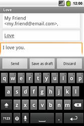 Alcatel OT-991 Smart - E-mail - Sending emails - Step 8