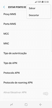 Samsung Galaxy S8 - MMS - Como configurar MMS -  15