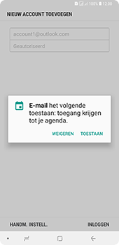 Samsung Galaxy A9 - E-mail - handmatig instellen (outlook) - Stap 12