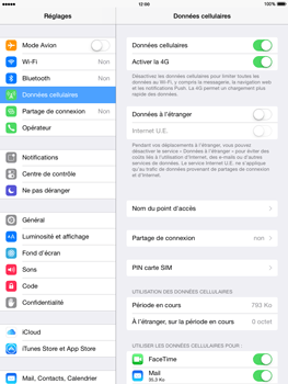 Apple iPad Air iOS 8 - Internet - activer ou désactiver - Étape 4