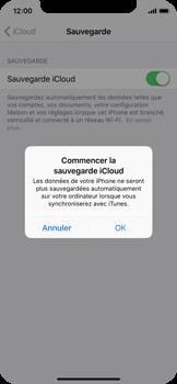 Apple iPhone X - Device maintenance - Back up - Étape 12