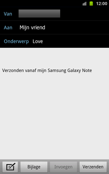 Samsung N7000 Galaxy Note - E-mail - hoe te versturen - Stap 7